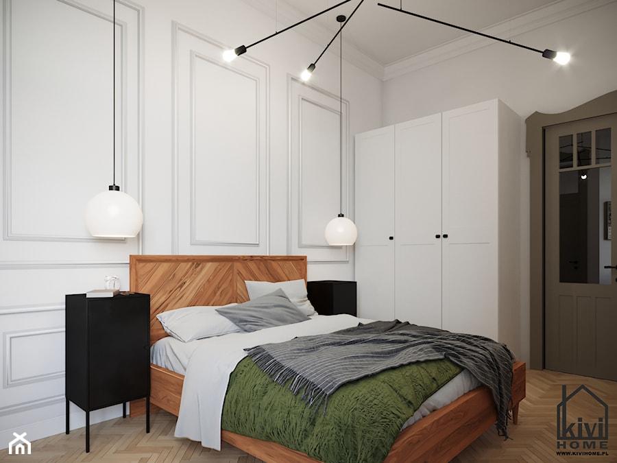 sypialnia w kamienicy - zdjęcie od Kivi Home - projektowanie wnętrz