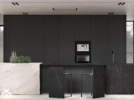 Aranżacje wnętrz - Kuchnia: Nowoczesna designerska kuchnia z dużą wyspą z prawdziwym kamieniem - VISIT HOME. Przeglądaj, dodawaj i zapisuj najlepsze zdjęcia, pomysły i inspiracje designerskie. W bazie mamy już prawie milion fotografii!