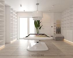 Dom z antresolą - nowoczesny korytarz w kolorze czarno białym - zdjęcie od VISIT HOME - Homebook