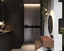 Łazienka w ciemnych kolorach - zdjęcie od VISIT HOME - Homebook