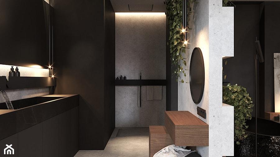 Łazienka w ciemnych kolorach - zdjęcie od VISIT HOME