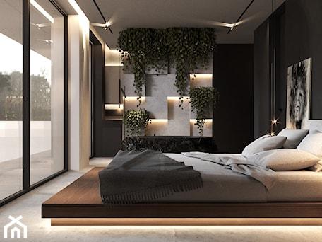 Aranżacje wnętrz - Sypialnia: Sypialnia z własną łazienką w formie salonu kąpielowego - VISIT HOME. Przeglądaj, dodawaj i zapisuj najlepsze zdjęcia, pomysły i inspiracje designerskie. W bazie mamy już prawie milion fotografii!