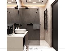 Jasna nowoczesna łazienka w kawowych odcieniach - zdjęcie od VISIT HOME - Homebook