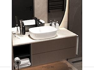 Jasna nowoczesna łazienka w kawowych odcieniach