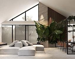 Salon w domu typu nowoczesna stodoła - zdjęcie od VISIT HOME - Homebook