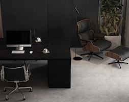 Klimatyczne męskie domowe biuro z akcentem roślinnym - dark home office - zdjęcie od VISIT HOME - Homebook