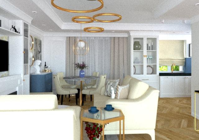 Mieszkanie  w stylu modern classic.