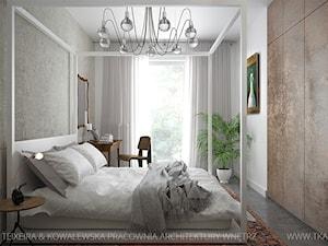 praskie klimaty - Średnia szara sypialnia małżeńska, styl vintage - zdjęcie od TK Architekci