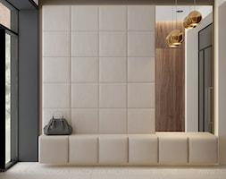 Duży szary hol / przedpokój, styl nowoczesny - zdjęcie od TK Architekci - Homebook