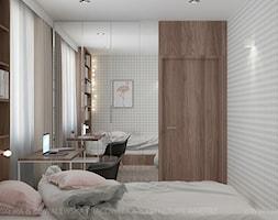 Mały szary pokój dziecka dla dziewczynki dla nastolatka, styl nowoczesny - zdjęcie od TK Architekci