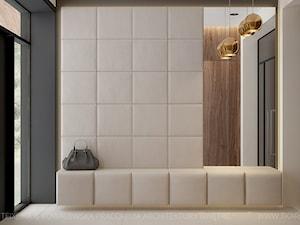 dom jednorodzinny - Średni biały hol / przedpokój, styl nowoczesny - zdjęcie od TK Architekci