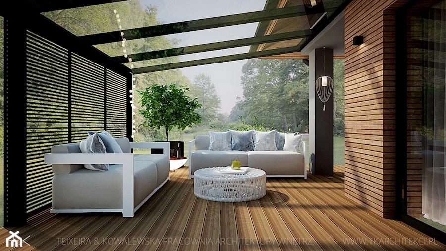 Genialny Taras z dachem - aranżacje, pomysły, inspiracje - homebook QI41
