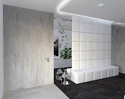 dom Rąbień - Średni biały hol / przedpokój, styl minimalistyczny - zdjęcie od Aleksandra Podsiadła