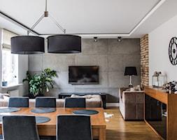 Metamorfoza mieszkania 80m2 - Średni salon z jadalnią, styl nowoczesny - zdjęcie od Meblościanka Studio