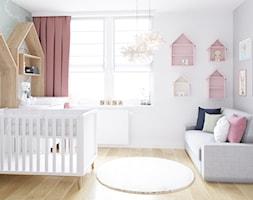 Gdynia Merano Park - Średni biały szary pokój dziecka dla dziewczynki dla niemowlaka, styl skandynawski - zdjęcie od Meblościanka Studio