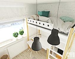 Mieszkanie Warszawa - Mały biały pokój dziecka dla chłopca dla dziewczynki dla malucha, styl eklektyczny - zdjęcie od Meblościanka Studio