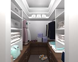 Projekt mieszkania na ul. Indiry Gandhi w Warszawie, 74 mkw. - Mała zamknięta garderoba przy sypialni, styl nowoczesny - zdjęcie od Patrycja Bedyk Studio Projektowe