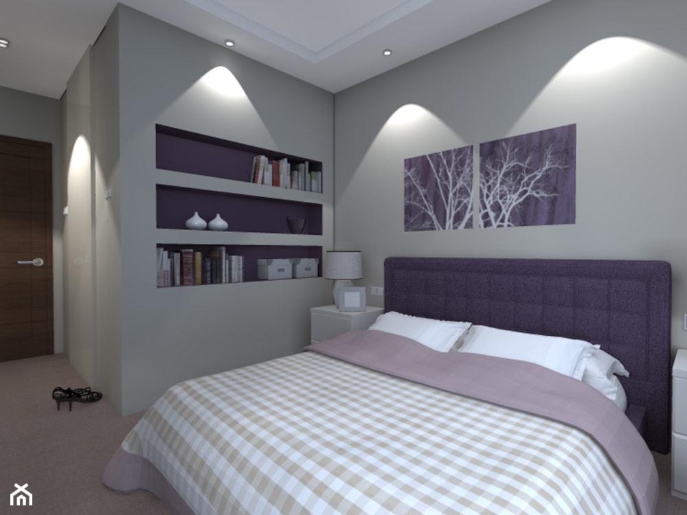 Projekt mieszkania na ul. Indiry Gandhi w Warszawie, 74 mkw. - Średnia biała sypialnia małżeńska, styl nowoczesny - zdjęcie od Patrycja Bedyk Studio Projektowe - Homebook