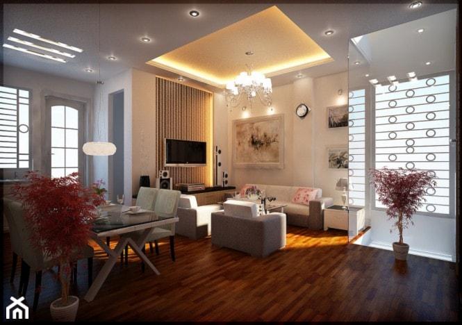Nowoczesne oświetlenie salonu - listwa oświetleniowa sufitowa - zdjęcie od Decor System - Homebook