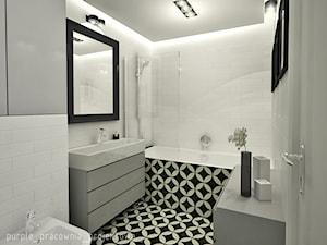 Bydgoszcz - Średnia biała łazienka bez okna, styl eklektyczny - zdjęcie od PURPLE PRACOWNIA