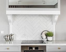 Dom pod Poznaniem - Mała zamknięta szara kuchnia jednorzędowa, styl nowojorski - zdjęcie od SAS Wnętrza i Kuchnie - Homebook