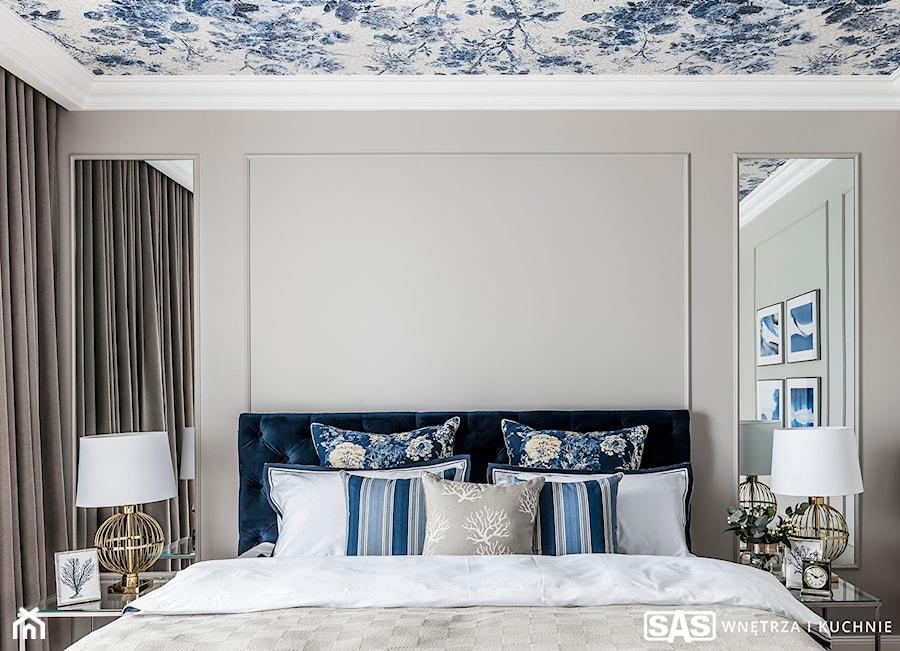 Dom pod Poznaniem - Średnia szara sypialnia małżeńska, styl nowojorski - zdjęcie od SAS Wnętrza i Kuchnie