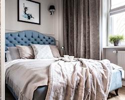 Sypialnia z pikowanym zagłówkiem - aranżacje, pomysły, inspiracje