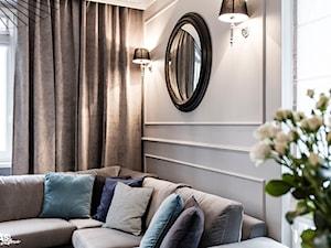 Mieszaknie w kamienicy - Średni beżowy salon, styl eklektyczny - zdjęcie od SAS Wnętrza i Kuchnie