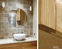 Łazienka w złocie - Łazienka, styl klasyczny - zdjęcie od SAS Wnętrza