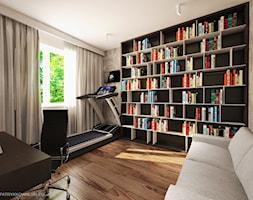 ul. Kurhan - Średnie szare biuro domowe kącik do pracy w pokoju, styl tradycyjny - zdjęcie od Patryk Kowalski Design