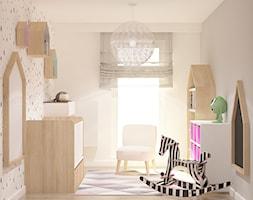 ul.Krzywińska - Średni biały beżowy pokój dziecka dla dziewczynki dla niemowlaka dla malucha, styl tradycyjny - zdjęcie od Patryk Kowalski Design