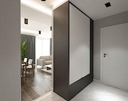 ul. Ceramiczna - Średni czarny szary hol / przedpokój, styl nowoczesny - zdjęcie od Patryk Kowalski Design