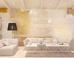 Olszewnica Stara - Średni biały beżowy żółty salon, styl eklektyczny - zdjęcie od Patryk Kowalski Design
