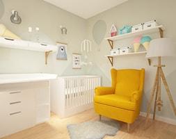 ul. Milenijna - Mały zielony pokój dziecka dla chłopca dla dziewczynki dla niemowlaka, styl klasyczny - zdjęcie od Patryk Kowalski Design