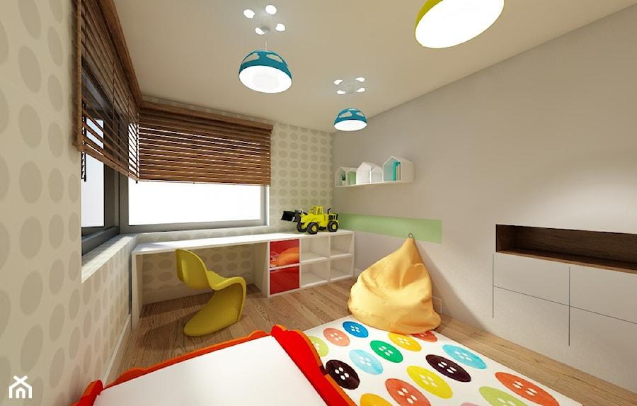 Błonie 1 - Mały szary pokój dziecka dla chłopca dla dziewczynki dla malucha, styl tradycyjny - zdjęcie od Patryk Kowalski Design
