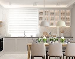 ul. Długa - Średnia zamknięta biała kuchnia w kształcie litery l z oknem, styl vintage - zdjęcie od Patryk Kowalski Design