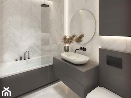 Aranżacje wnętrz - Łazienka: Nowoczesna elegancka łazienka - KOLA Studio Wizualizacje Architektoniczne. Przeglądaj, dodawaj i zapisuj najlepsze zdjęcia, pomysły i inspiracje designerskie. W bazie mamy już prawie milion fotografii!