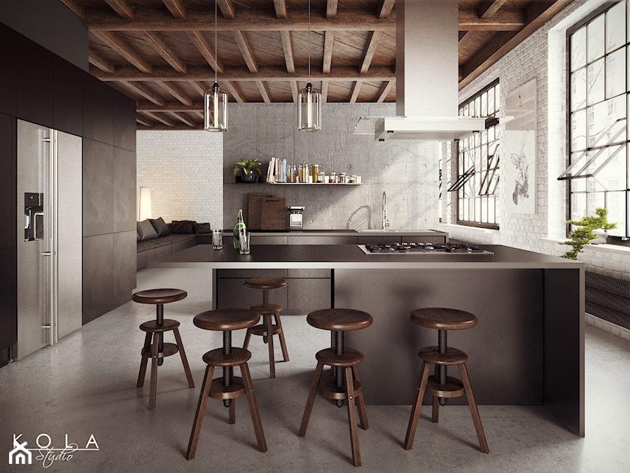 Kuchnia w stylu loft projekt kola studio wizualizacja for W loft