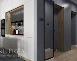 Mieszkanie w Rzeszowie - Średnia otwarta biała kuchnia dwurzędowa, styl nowoczesny - zdjęcie od MOJE WNĘTRZA Pracownia Projektowa Jamuła Sławomir