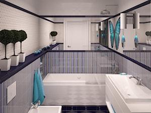 Średnia kolorowa łazienka, styl klasyczny - zdjęcie od Spede Studio