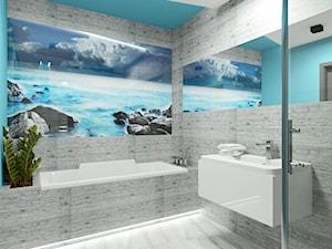 Nowoczesna łazienka w morskim stylu. - zdjęcie od JLT DESIGN