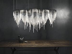 Lampy jak świetlne rzeźby z metalu i szkła - TERZANI
