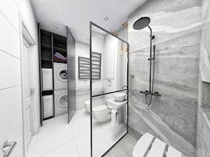 Elegancka łazienka dedykowana dla osoby o lekkiej niepełnosprawności - zdjęcie od PRACOWNIA PROJEKTOWA KRYSKA Ewa Łuźniak