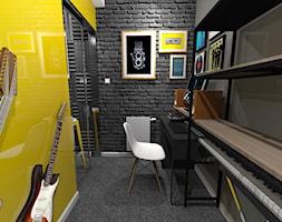 Pokój muzyczny, miejsce pracy i spełnianie marzeń - zdjęcie od PRACOWNIA PROJEKTOWA KRYSKA Ewa Łuźniak