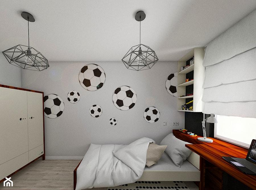 Sypialnia Małego Miłośnika Piłki Nożnej Mały Szary Czarny