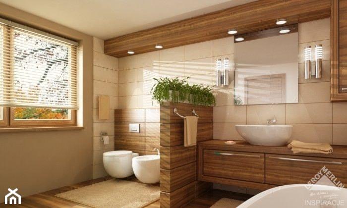 Duża Beżowa Szara łazienka Zdjęcie Od Joanna Ciastek