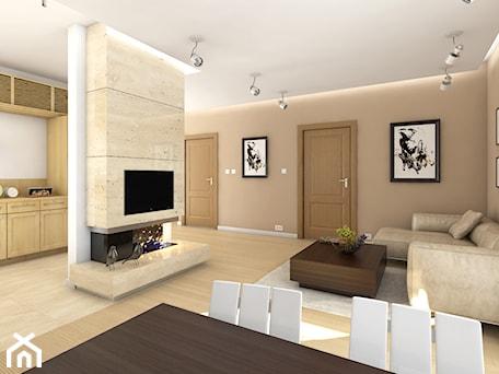 Aranżacje wnętrz - Salon: Wnętrze projektu Zosia - MG Projekt Projekty domów. Przeglądaj, dodawaj i zapisuj najlepsze zdjęcia, pomysły i inspiracje designerskie. W bazie mamy już prawie milion fotografii!