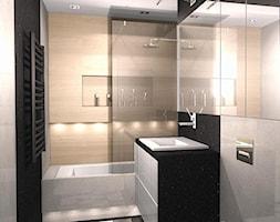 MIESZKANIE WARSZAWA 2 - Mała łazienka w bloku w domu jednorodzinnym bez okna, styl nowoczesny - zdjęcie od EJOT DESIGN Edyta Jonkisz
