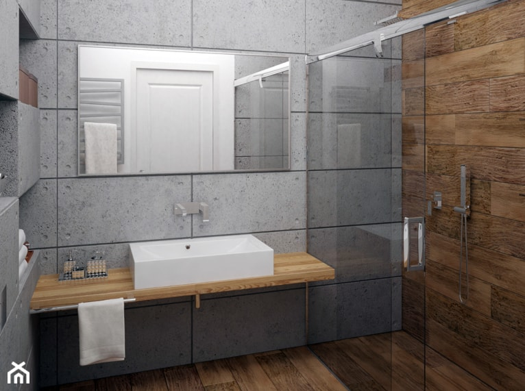 łazienka Beton Architektoniczny Zdjęcie Od Gotowe Wnętrza