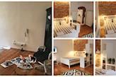 sypialnia przed i po remoncie
